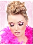 Black-Hot Pink Rhinestone Eyelashes